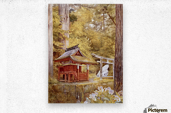 Japanese Pagoda In The Woods  Metal print