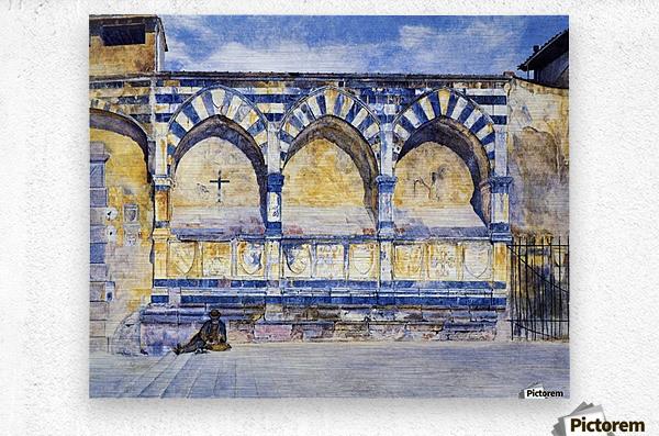 The Three Arches of Santa Maria Novella  Metal print