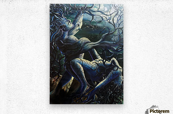 THE DANCE OF LOVE BY TREES  Metal print