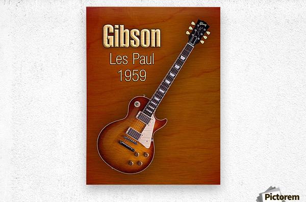 Vintage Gibson Les paul 1959  Metal print