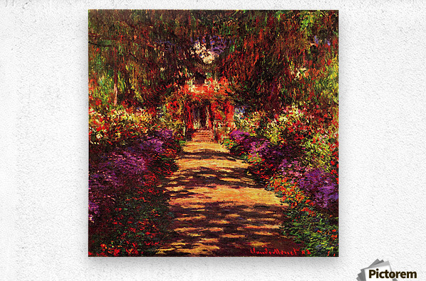 Path in Monets garden in Giverny by Monet  Metal print