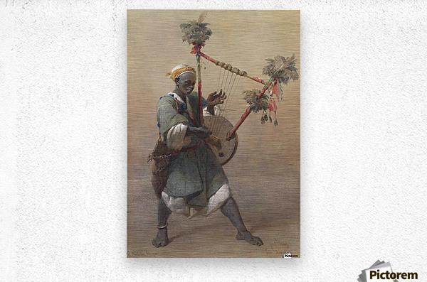 A Nubian harper  Metal print