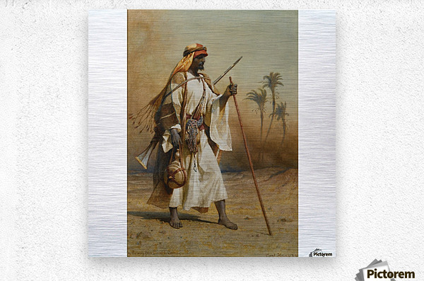 A warrior scouring the land  Metal print
