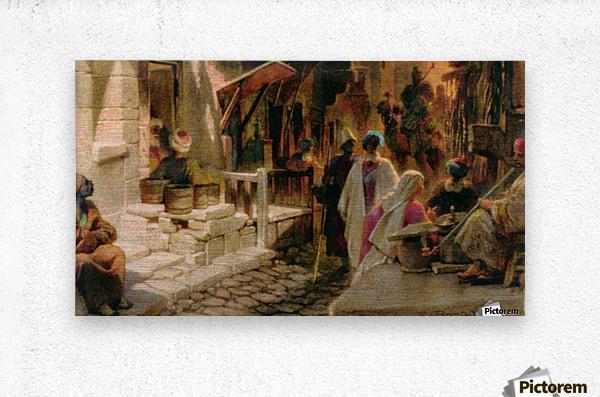 The Bazaar near Damascus  Metal print