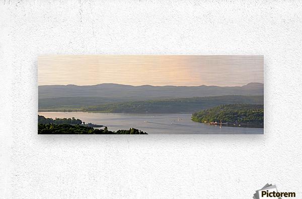 Boating on the St. John River, New Brunswick, June 7, 2012  Metal print