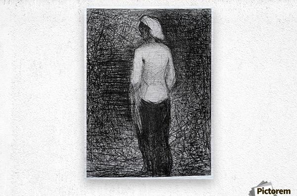 Artist by Seurat  Metal print