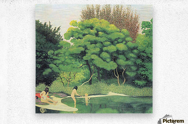 Bathers in the woods by Felix Vallotton  Metal print