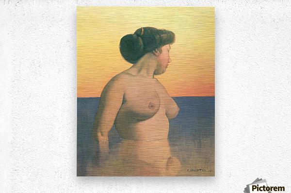 Bathing 2 by Felix Vallotton  Metal print