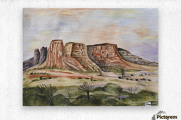 Buttes of Sedona   Metal print