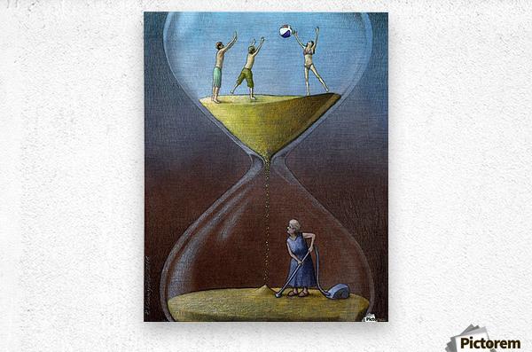 time  Metal print