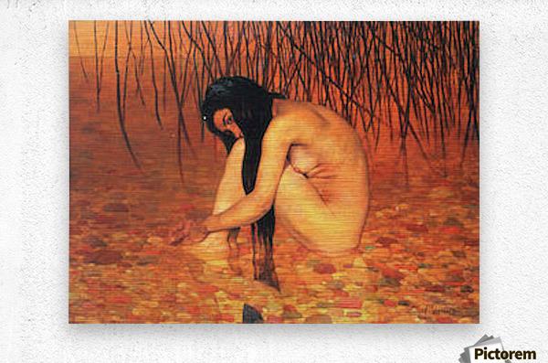 Bathing by Felix Vallotton  Metal print