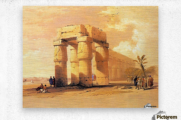 Egyptian ruines with figures  Metal print