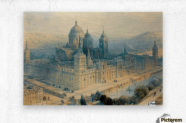 1836 The Palace of Escorial, Near Madrid, Spain  Metal print