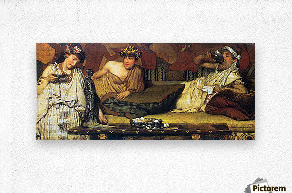 The dinner (Greek), detail by Alma-Tadema  Metal print