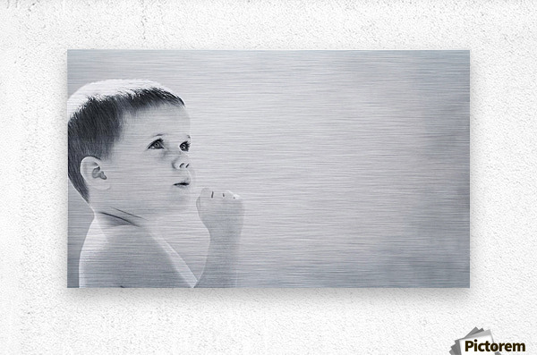 Expression Of A Child  Metal print
