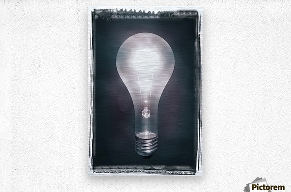Light Bulb  Metal print
