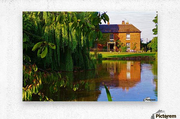 Fish pond Seckington  Metal print