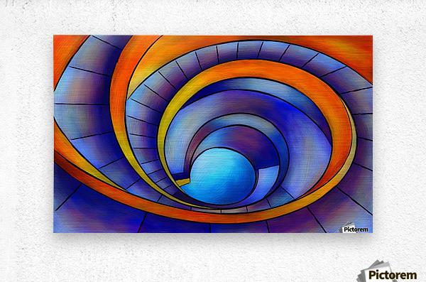 Melanissia - abstract moonrise  Metal print