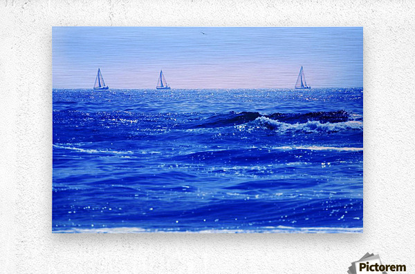 A Good Day For Sailing  Metal print