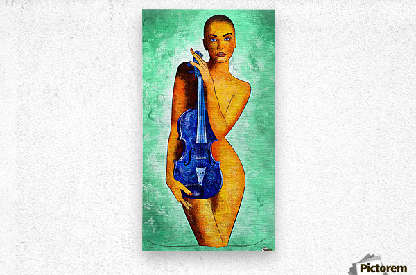Bellaseussa - beauty with violin  Metal print