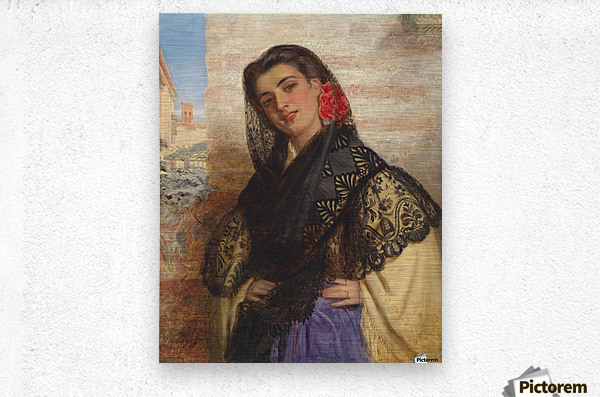 The spanish couquette 1879  Metal print