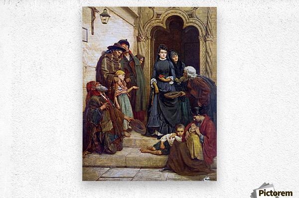 The church door 1889  Metal print