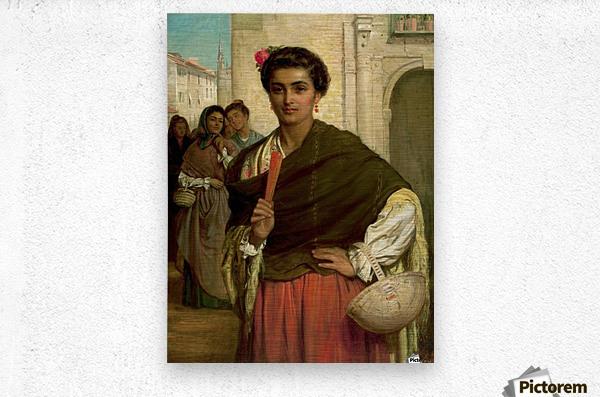 Admirers 1876  Metal print