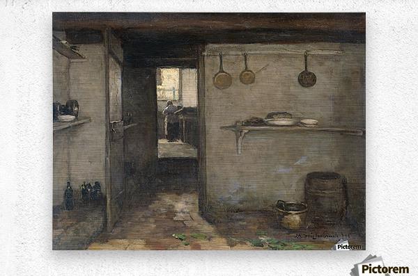Doorkijkje in het onderhuis van Weissenbruch's woning in Den Haag  Metal print