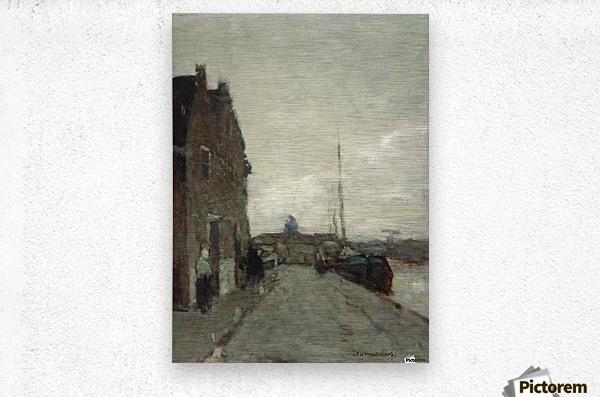 A View on Het Spaarne, Haarlem  Metal print