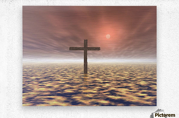 The Mystery Of The Cross  Metal print