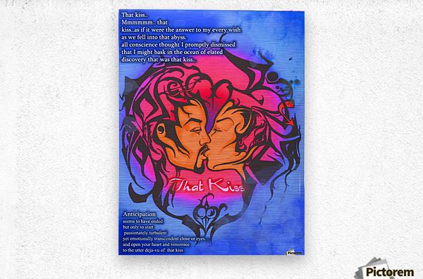 that kiss  Metal print