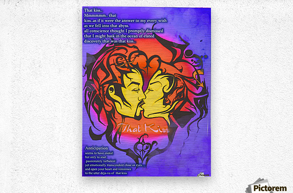 that kiss2  Metal print