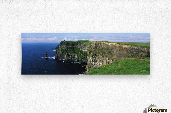 Cliffs Of Moher, Co Clare, Ireland; Cliffs On The Atlantic Ocean  Metal print