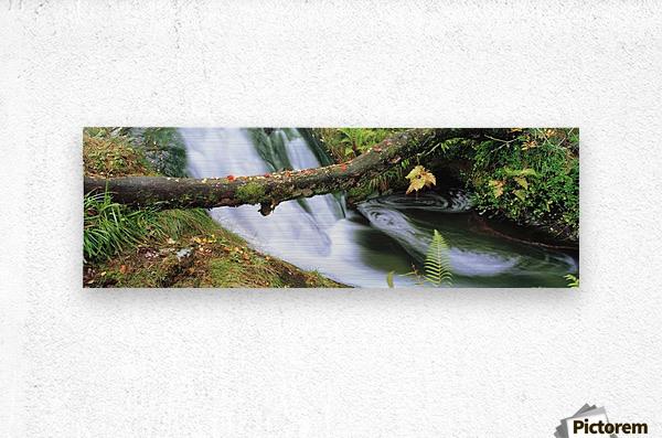 Ireland; Waterfall  Metal print