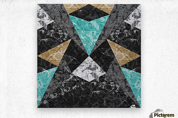 Marble Geometric Background G430  Metal print