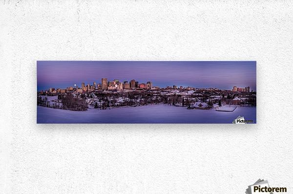 Panoramic City Landscape  Metal print