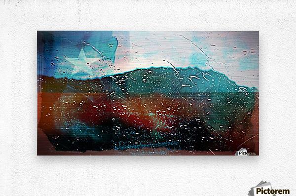 rainwindowflag  Metal print