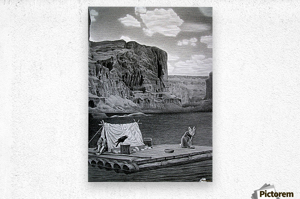 IN THE GRAND CANYON  Metal print