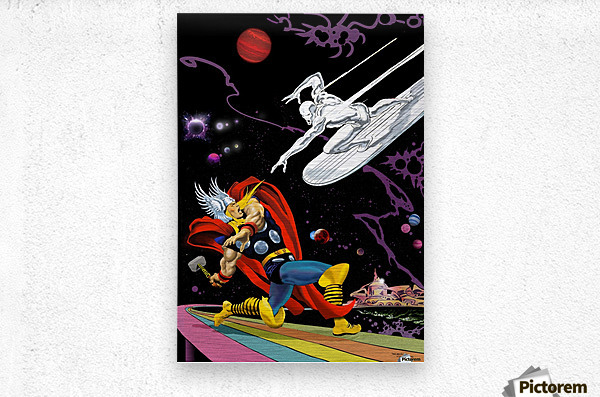 Marvel: Thor vs The Silver Surfer  Metal print