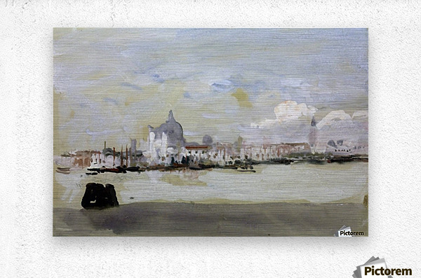 A grey day in Venice  Metal print