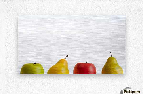 Apples And Pears  Metal print