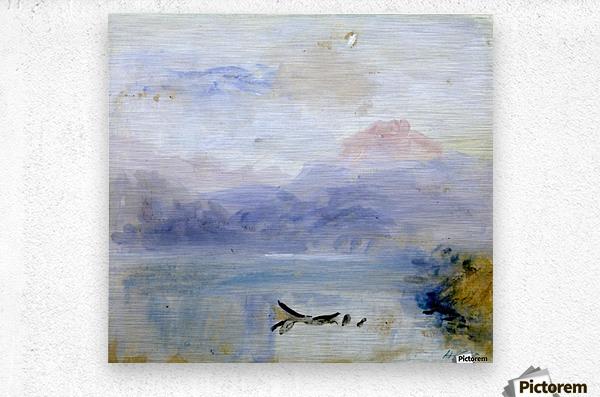 Lake scene  Metal print