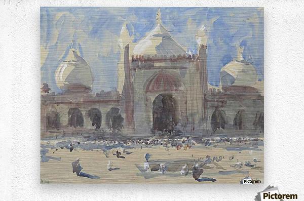 Entrance to the Jama Masjid, Delhi  Metal print