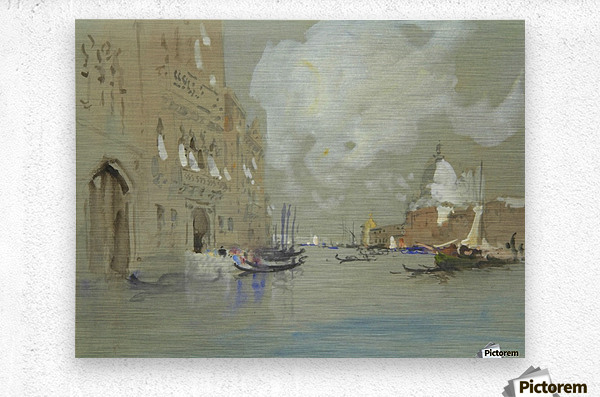 View of Venice along a canal  Metal print