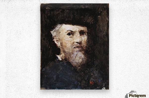 A souvenir of a self-portrait by Jean-Jacques Henner  Metal print