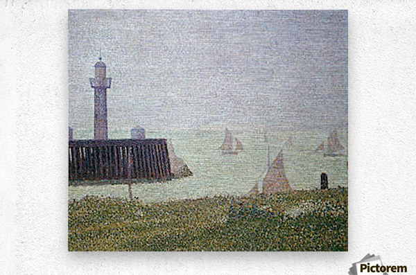 Harbor in Honfleur 2 by Seurat  Metal print