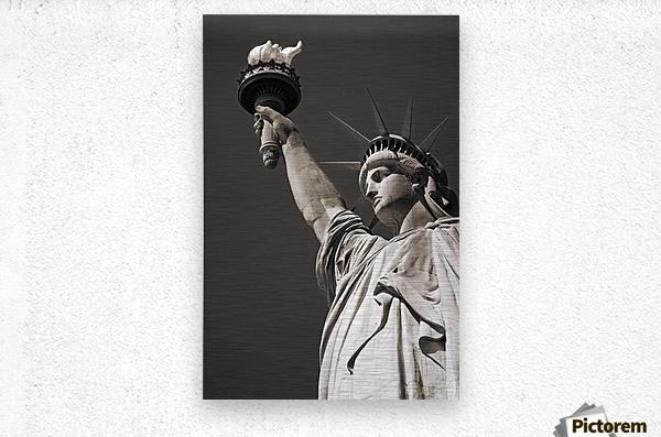 Statue Of Liberty, Lower Manhattan, New York City, New York, Usa  Metal print