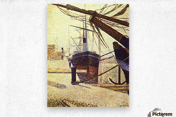 Harbor in Honfleur by Seurat  Metal print