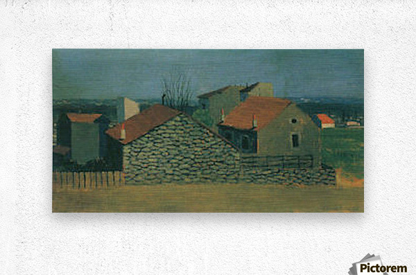 Houses in Puteaux by Felix Vallotton  Metal print
