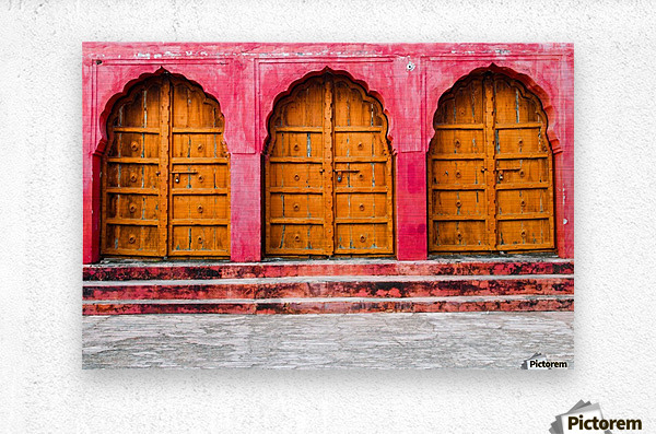 Doors of the Pink City   Metal print
